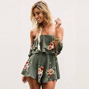 New! Women's Spring Time Romper Size S-XL